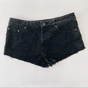 Roxy Black Denim Shorts 27